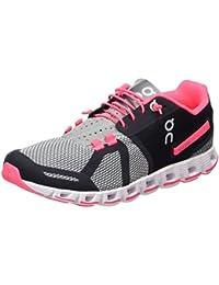 On Running Cloud W Gris Neon Rose