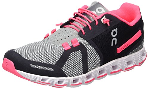 On Running Women's Cloud Grey/Neon Pink W 6 Competition Shoes, Grey (Grey/Neon Pink), 4 UK