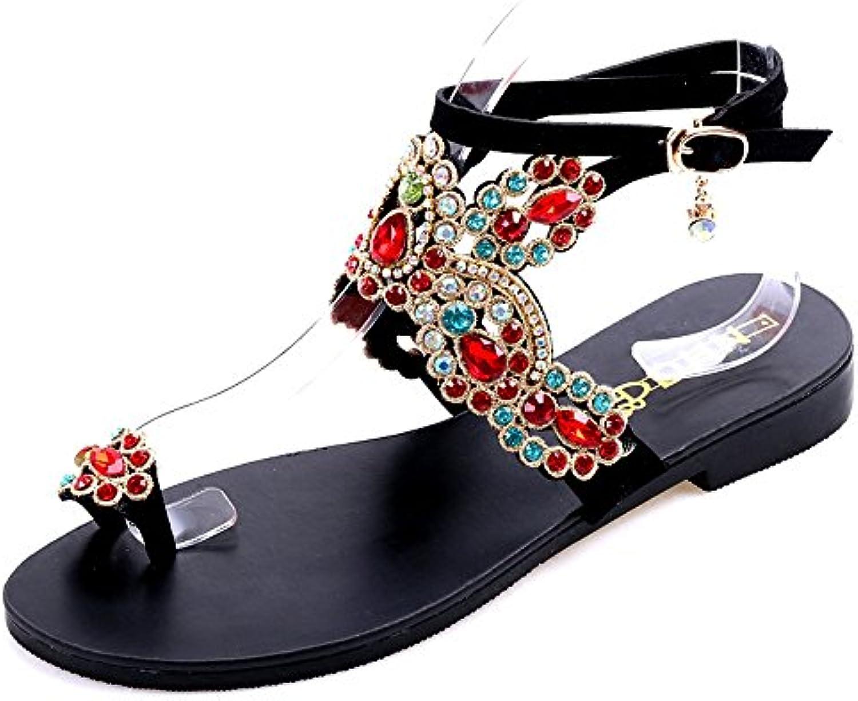 Ethnic Wind Bohemian Vacation Beach Sandals, Flippers Flat Sandals Roman Summer   A Prezzo Ridotto    Sig/Sig Ra Scarpa