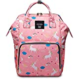 House of Quirk Baby Diaper Bag Maternity Backpack (Pink Unicorn)