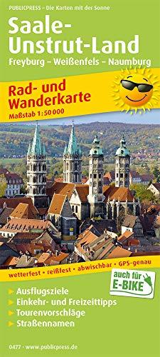 Saale-Unstrut-Land, Freyburg - Weißenfels - Naumburg: Rad- und Wanderkarte mit Ausflugszielen, Einkehr- & Freizeittipps sowie Nebenkarte Ziegelrodaer ... 1:50000 (Rad- und Wanderkarte / RuWK)