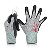 Level 5 schnittfeste Handschuhe Cru553, Flexible 3D Comfort Stretch Fit, Power Grip, Durable Nitrilschaum, Pass US FDA, Waschmaschinenfest, SCHNITT 5 Gray X-Klein 1PR