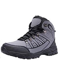 7821de5f0bb58 MAYZERO Chaussures Homme Bottes et Bottines Hiver De Neige Homme Boots  Fourrees Bottines Mode