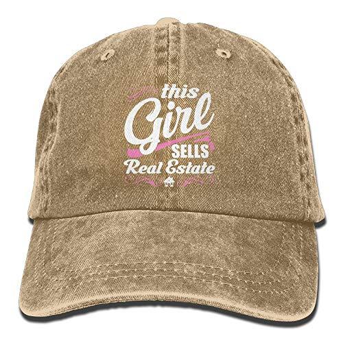 This Girl Sells Real Estate Denim Hat Adjustable Womens Vintage Baseball Caps