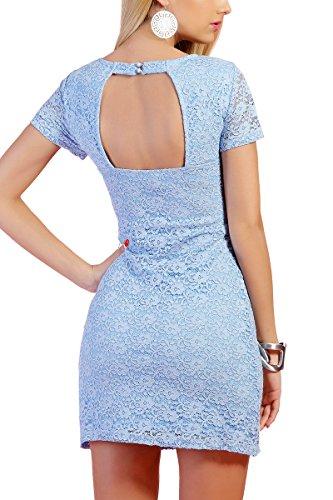 INFINIE PASSION - dentelle - Robe sexy bleu ciel Bleu Ciel