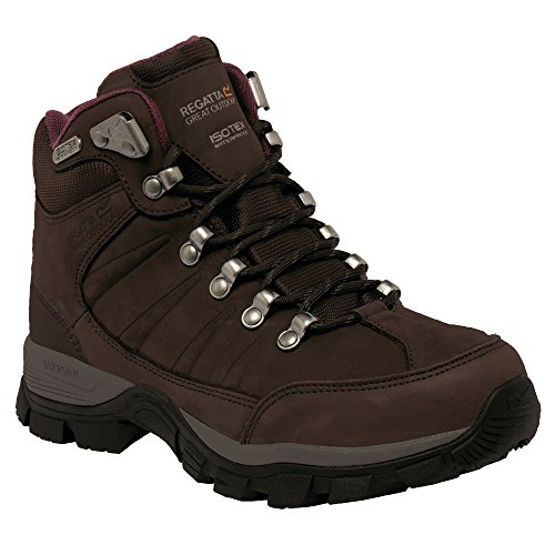 Regatta Womens/Ladies Borderline II Waterproof Leather Walking Boots Peat