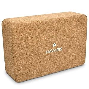 Navaris Yoga Block aus Kork – 100% schadstofffreier Naturkork – Öko Yogablock – Hilfsmittel für Pilates Yoga Training – 22,5 x 14,5 x 7,6 cm