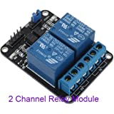 Generic 5V 10A 2 Channel Relay Module Shield for Arduino ARM PIC AVR DSP Electronic