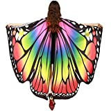Morwind Prop Soft Fabric Butterfly Wings Shawl Fairy Ladies Nymph Pixie Costume Accessory (Multicolor)