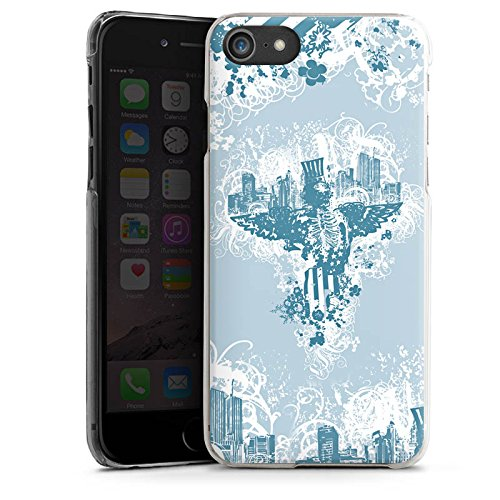 Apple iPhone X Silikon Hülle Case Schutzhülle Stadt Freiheit Ornamente Hard Case transparent