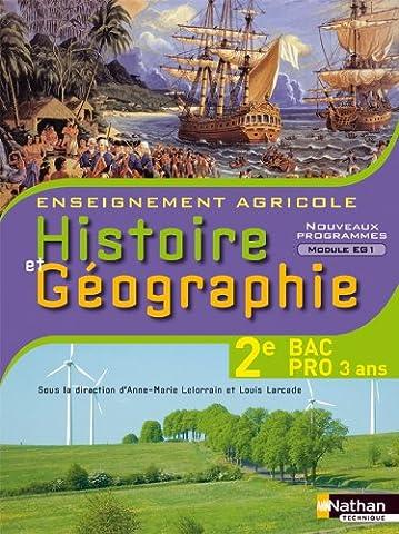 Histoire et Géographie 2e Bac Pro 3 ans