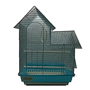 All4Pets Bird Cage (Wire-White, Pan-White/Blue/Pink