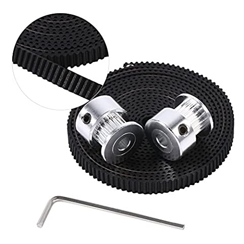 2pcs Aluminum GT2 20 Teeth Timing Pulleys (5mm bore) and