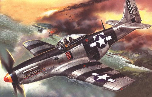 ICM 48154 - Maqueta de avión Mustang P-51K American Fighter de la Segunda Guerra Mundial