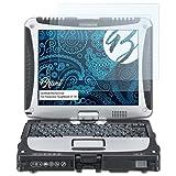 Bruni Schutzfolie für Panasonic ToughBook CF-19 Folie, glasklare Bildschirmschutzfolie (2X)