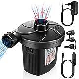 UOON Pompe Électrique, Pompe électropompe Pompe électrique avec 3 buse d'air pour Gonflable. pour Camping Matelas pneumatiques,...