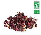 Fleurs d'hibiscus - Sachet de 300g vrac  Certifié Agriculture biologique