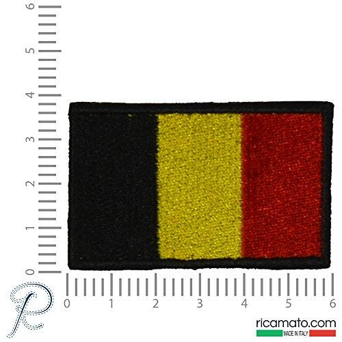 TOPPA PATCH RICAMATA BANDIERA BELGIO BELGIUM BELGICA (Belgio Flag Patch)