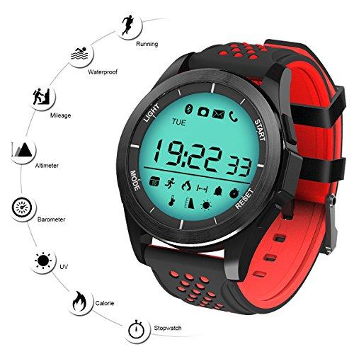 Reloj Deporte Inteligente QIMAOO F3 Smart Watch Bluetooth 4.0 Fitness  Tracker Sincronización con Smartphone Llamada SMS 3145e12ced6c