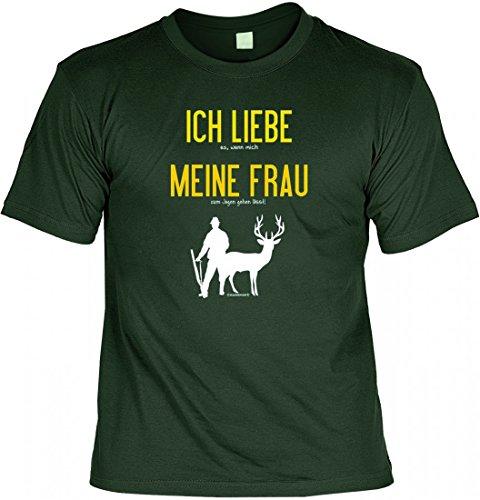 T-Shirt Set mit Minishirt - Ich Liebe Meine Frau - witziges Spruchshirt ALS Geschenk für den Ehemann und Jäger, Größe:M