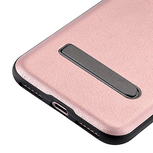 Coque iPhone 7 Plus, PUGO TOP iPhone 7 Plus Case Coque Housse Etui Shock-Absorption PC Bumper et Anti-Scratch Effacer Clair Back pour Apple iPhone 7 Plus-or b¨¦quille-Or rose