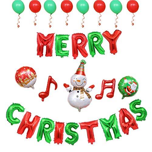 Ballons Aluminium Merry Christmas Folie Film Aufblasbare Weihnachtsbaum Weihnachtsmann Luftballons Weihnachtsdekorationen Ballon ()
