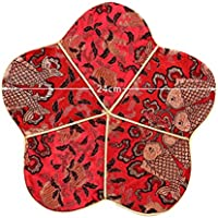 Wukong Paradise Tabla de la Estera del crisol Decorativo Bandeja de té Decorativa del té de la Tela Pad-A03