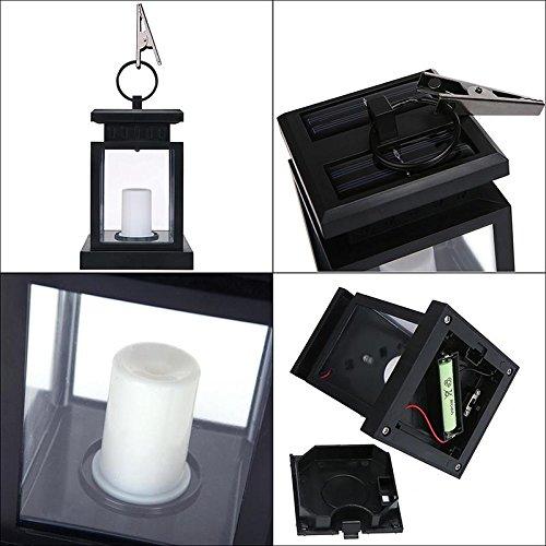 Umiwe Solar LED Linterna de la Vela Solar de la Vendimia Powered Misión de la Linterna Luces Colgantes a Prueba de Agua