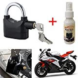 Bike Motorcycle Anti Theft Waterproof Burglar Pad Lock Alarm Security Siren With Shiner cleaner Polish Spray (100ml) and Keyring for Royal Enfield Classic 500