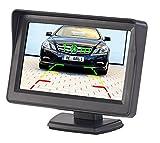 Lescars Kfz Frontkamera: Kfz-Monitor für Rückfahr- & Front-Kamera, LCD-Display mit 10,9 cm/4,3
