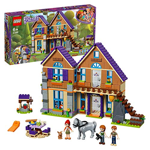 Lego 41369 Friends Mia S House Set 3 Mini Dolls Rabbit And Horse Figures Build And Play Dollhouse Toys For Kids Multi Colour