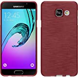 Coque en Silicone pour Samsung Galaxy A3 (2016) A310 - brushed rose - Cover PhoneNatic Cubierta + films de protection