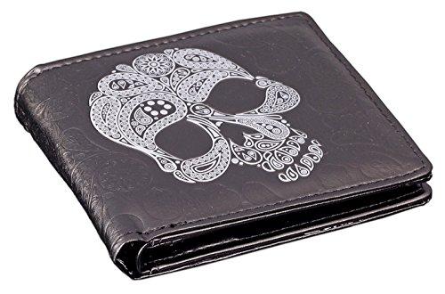Herren Portemonnaie Totenkopf - Sugar Skull | Totenschädel Geldbörse Geldbeutel Portmonee