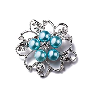 Impression 1Pcs Serie Brosche elegante Mode Brosche Design für Hochzeit Legierung Schal Clip Liebhaber Geschenk Schneeflocke Blume Design Form