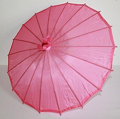 AAF Nommel ® Deko- Kinder- Sonnenschirm aus Stoff und Holz rosa, 100