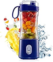 HXDream Portable Personal Blender for Smoothie and Shakes,Powerful 3D Blades 4000mAh USB Rechargeable Juicer C
