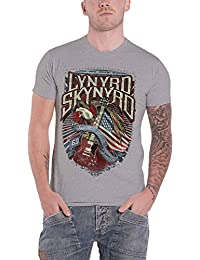 Lynyrd Skynyrd T Shirt Sweet Home Alabama Band Logo Nue Offiziell Herren Grau