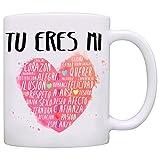 Taza para enamorados - Tú eres mi corazón - 350 ml - Tazas con frases de regalo para novios / novias