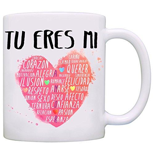 Tazas desayuno originales para enamorados, regalos de pareja, novios, San Valentín - MUGFFINS - Tazas con frases y mensajes alegres y divertidos