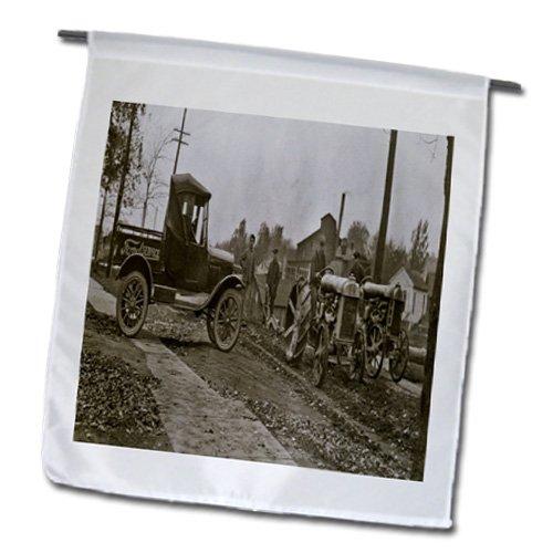 3dRose FL_16208_1 1920er Ford Service LKW und Traktoren Gartenflagge, 30,5 x 45,7 cm - Ford-lkw-bilder