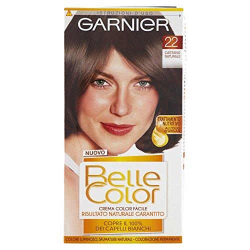 Garnier Belle Color Colorazione Permanente, Risultato Naturale e Luminoso, 22 Castano