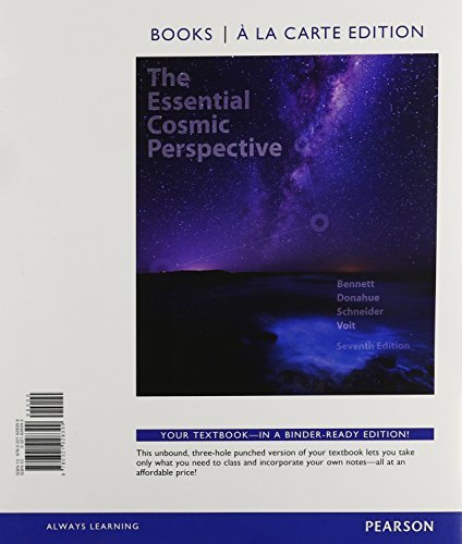 Essential Cosmic Perspective, The, Books a la Carte, Lecture - Tutorials for Introductory Astronomy, MasteringAstronomy with eText and Access Card (7th Edition) by Jeffrey O. Bennett (2014-03-20)