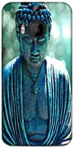 Snoogg Buddha Caught In The Moment Designer Protective Back Case Cover For HTC M9 Plus