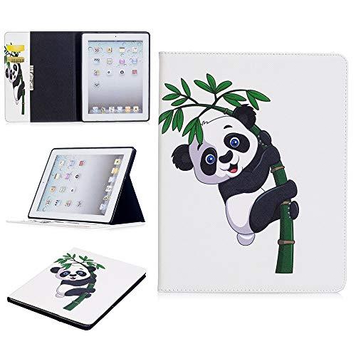JUFENGYAO Niedlicher Panda-Eulen-Schmetterlings-Blumen-Entwurfs-Tablet-Standplatz-Kartenschlitz-Kasten kompatibel mit für iPad 2./3 ./4. Generation Tablethülle (Pattern : 1) - Blumen Generation Cases 2. Ipad