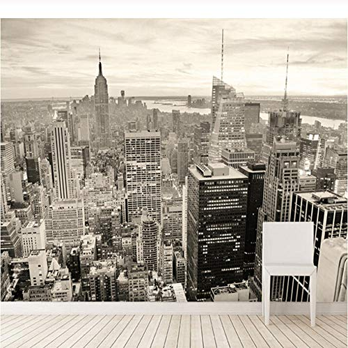Benutzerdefinierte Wandbilder Tapete Moderne Schwarz Und Weiß Stadt Gebäude Design Großes Wandbild Schlafzimmer Wohnzimmer Sofa Hintergrund Tapetenrolle