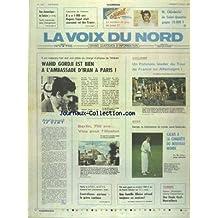 VOIX DU NORD (LA) [No 13371] du 03/07/1987 - WAHID GORDJI EST BIEN A L'AMBASSADE D'IRAN A PARIS - BERLIN - 750 ANS - VISA POUR L'ILLUSION - LES SPORTS - CYCLISME - BOXE - GOLF - TENNIS - LES CONFLITS SOCIAUX - IL Y A 1000 ANS HUGUES CAPET ETAIT COURONNE ROI DES FRANCS