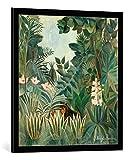 kunst für alle Bild mit Bilder-Rahmen: Henri J.F. Rousseau The Equatorial Jungle 1909