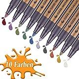 Metallic Stifte, 10 Farben für Geschenkkarten, Scrapbooks, Felsmalerei, selbstgemachte Fotoalben,...