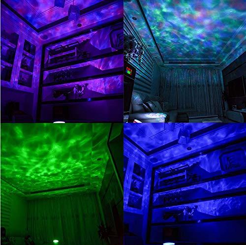 Led Nachtlicht 7 Farben Sternenhimmel Fernbedienung Ocean Wave Projektor Mit Mini Musik Neuheit Baby Lampe Nachtlampe Für Kinder - Wave Bad Licht