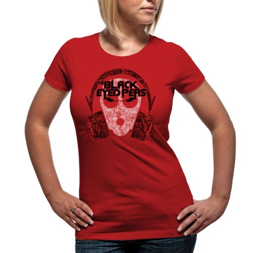 BLACK EYED PEAS - OUT OF MY MIND Girlie Shirt Rot (Red)